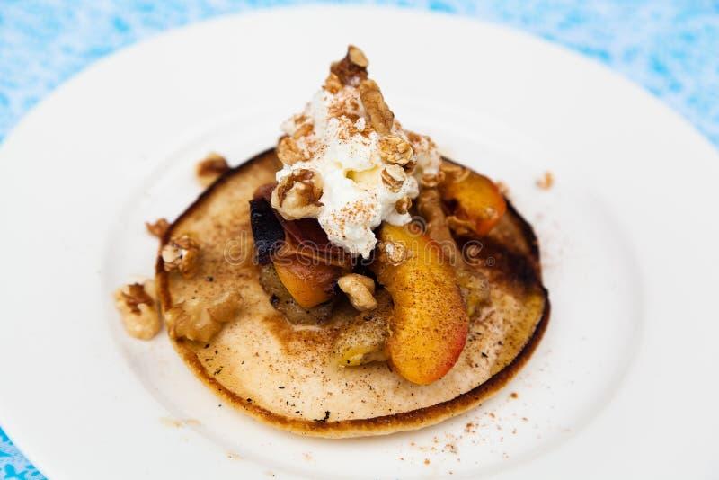 Dessert delizioso del pancake fotografie stock libere da diritti