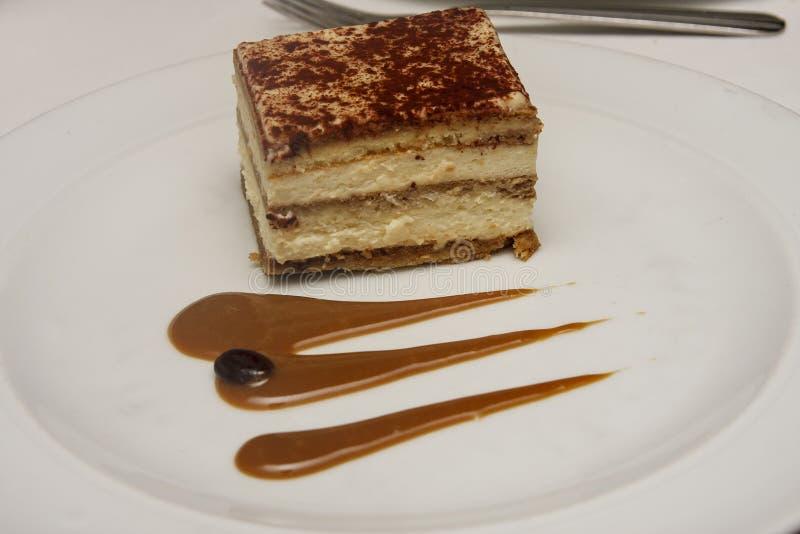 Dessert della crema del Mocha fotografie stock libere da diritti