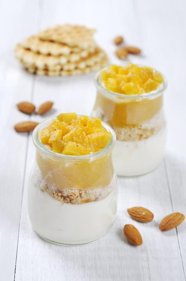 Dessert della frutta con il mango immagine stock