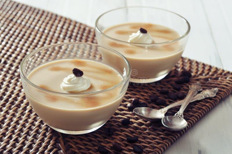 Dessert della latteria con sapore del coffe fotografia stock