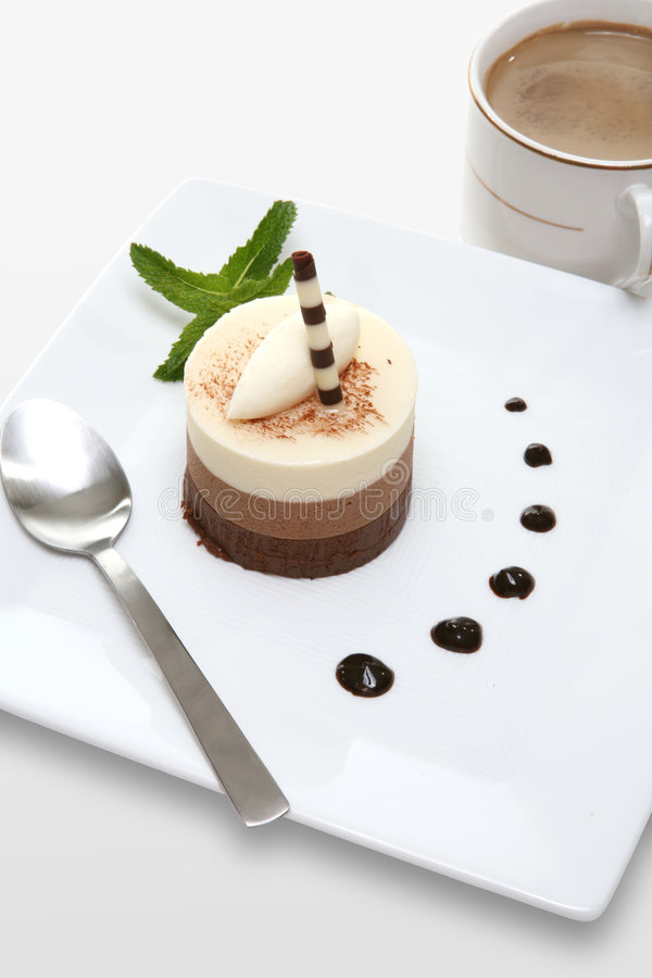Dessert della torta del Mocha fotografia stock libera da diritti