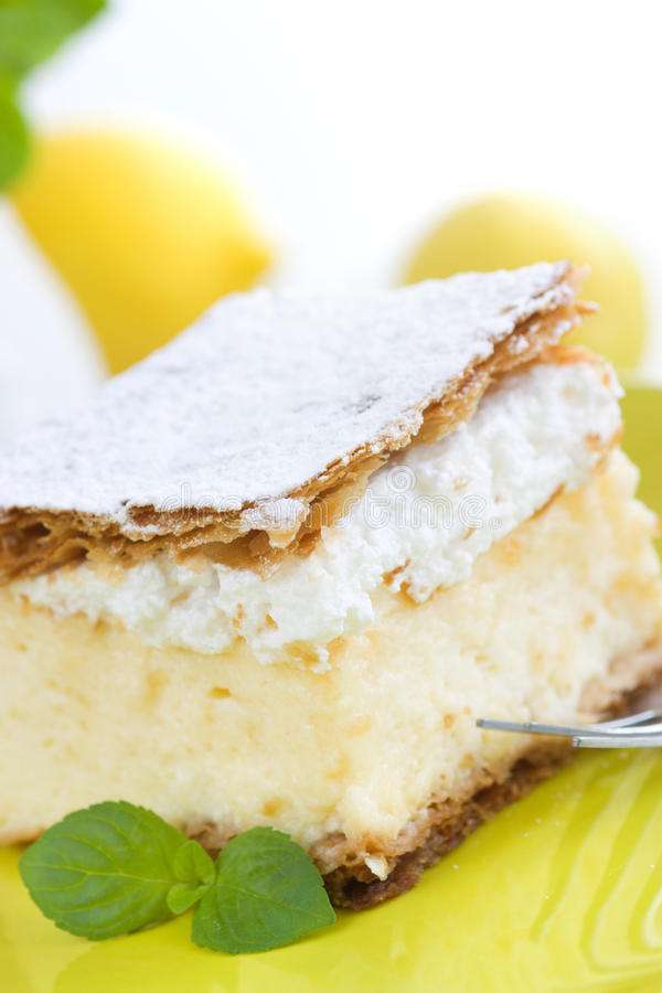 Dessert della torta della vaniglia fotografia stock libera da diritti