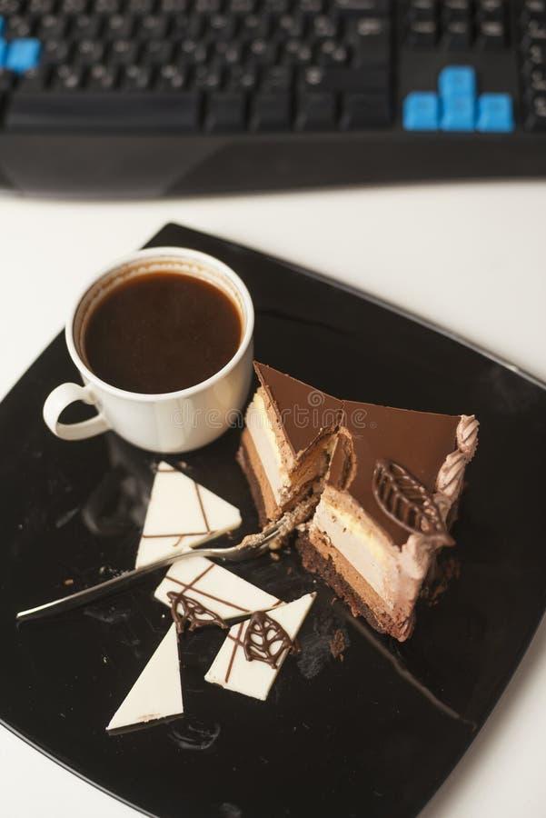 Dessert -dessert-slace van cake stock foto