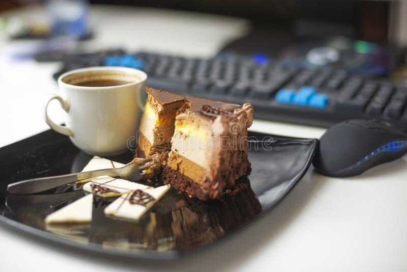 Dessert -dessert-slace van cake royalty-vrije stock fotografie