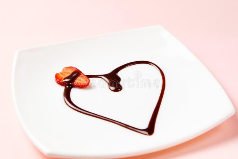 Dessert di amore fotografia stock