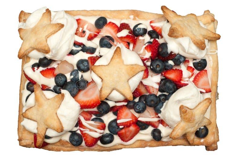 Dessert di festa dell'indipendenza immagini stock