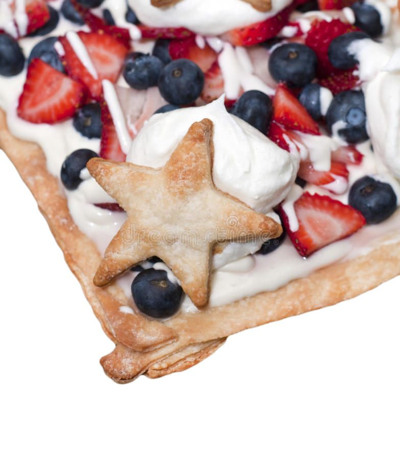 Dessert di festa dell'indipendenza fotografia stock libera da diritti