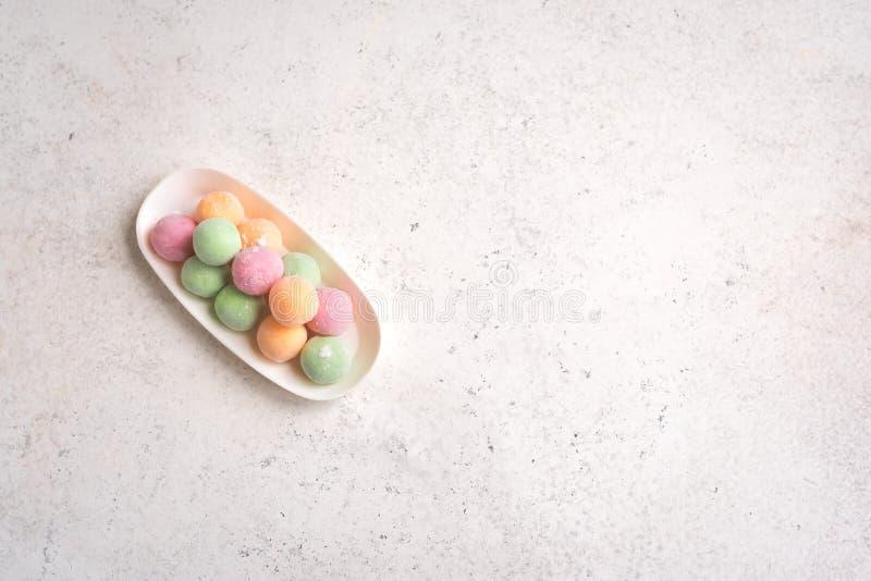 Dessert di Mini Mochi fotografia stock