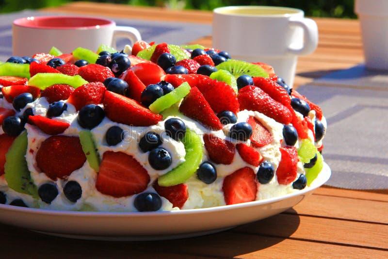 Dessert di Pavlova immagine stock