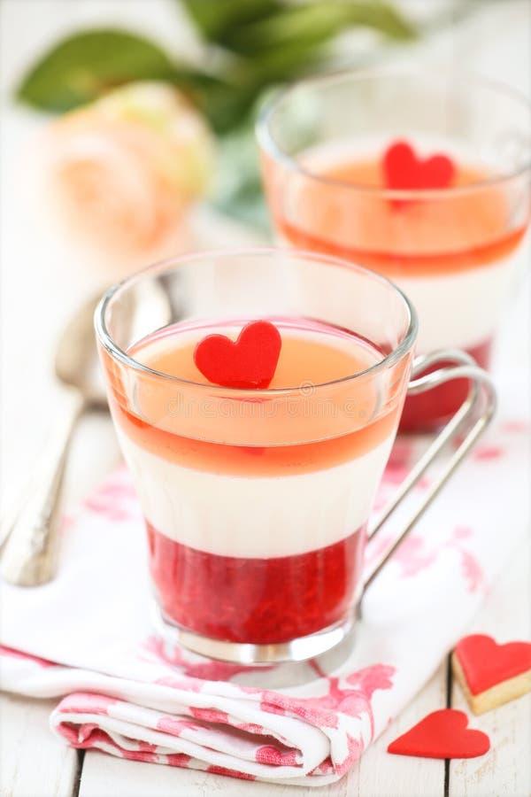 Dessert di San Valentino immagini stock