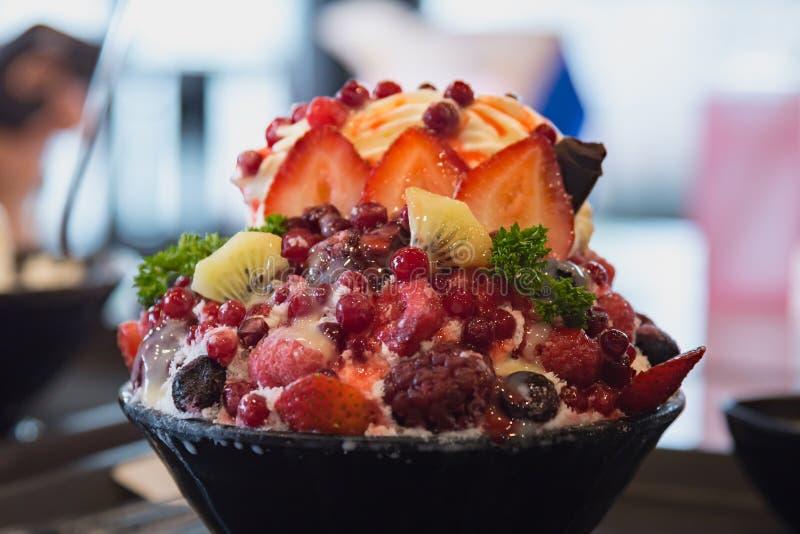 Dessert dolce coreano immagini stock
