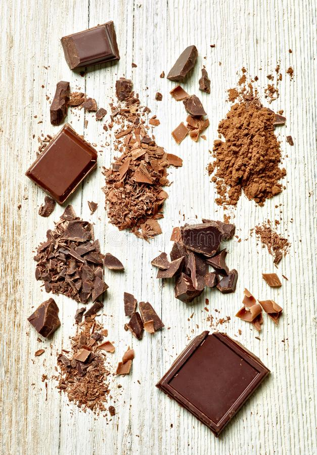 Dessert doux de nourriture de chocolat photo stock