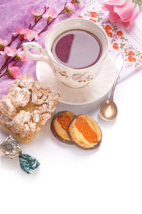Dessert doux pour le petit déjeuner images libres de droits