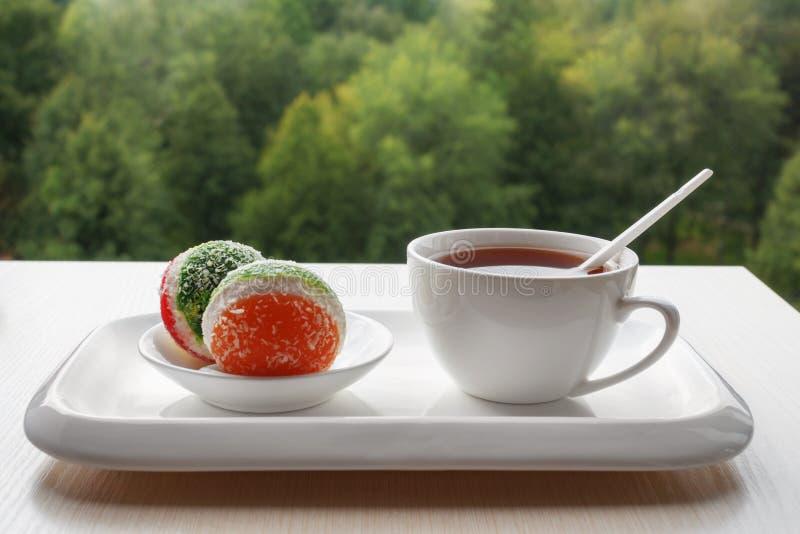 Dessert e tè fotografia stock