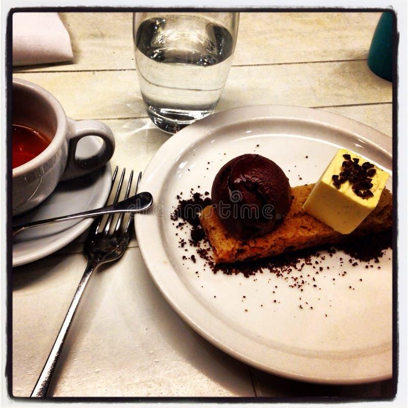 Dessert en koffie royalty-vrije stock afbeelding
