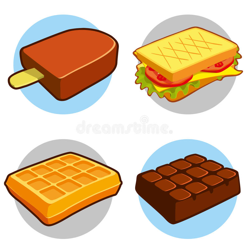 Dessert and fast food icon royalty free illustration