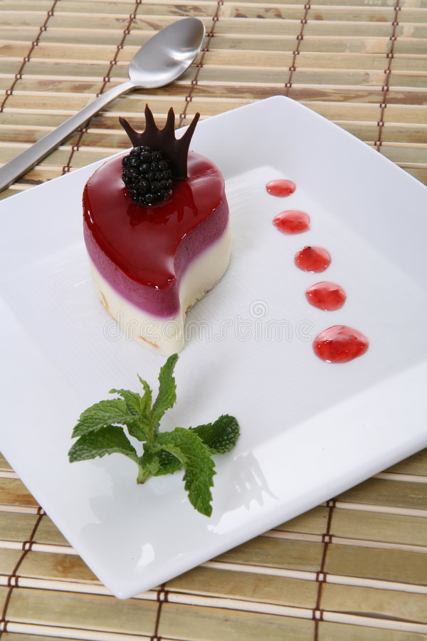 Dessert Food. A delicious looking dessert in a luxurious restaurant royalty free stock images