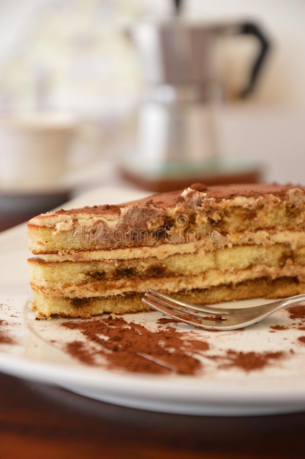 Italian tiramisu sweet cake royalty free stock images