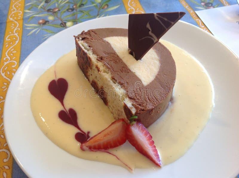 Dessert, Food, Frozen Dessert, Flourless Chocolate Cake stock photo
