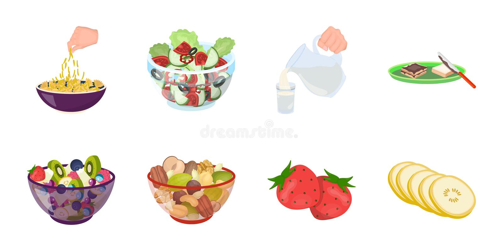 Dessert fragrant icons in set collection for design. Food and sweetness vector symbol stock illustration stock illustration