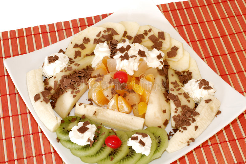 Download Dessert With Fresh Fruit And Whipped Cream. Stock Photo - Image: 1817338