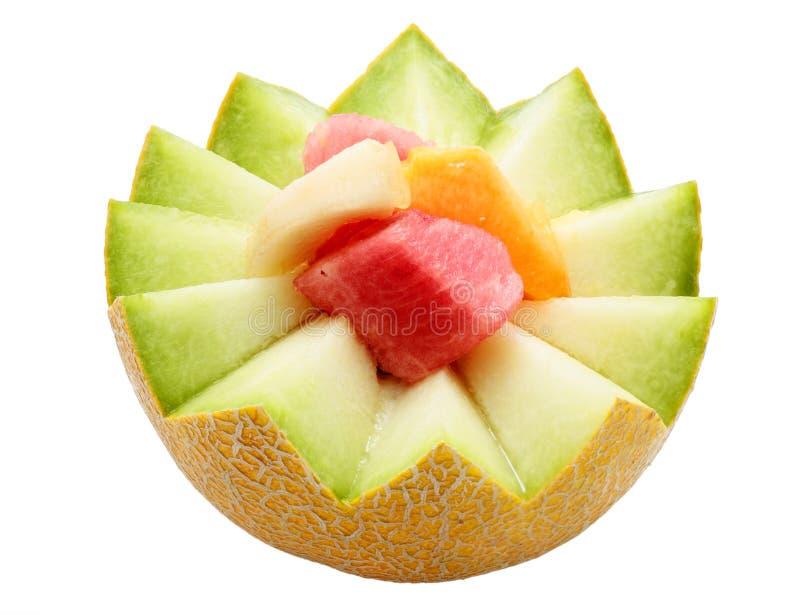 Dessert of fruit stock images