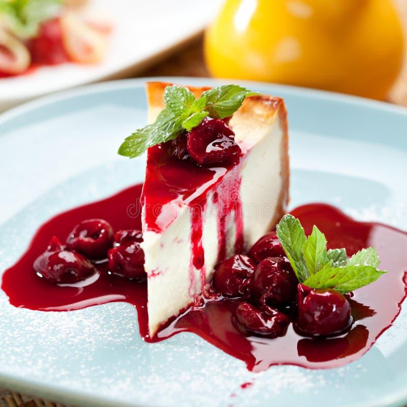 Dessert - gâteau au fromage photo stock