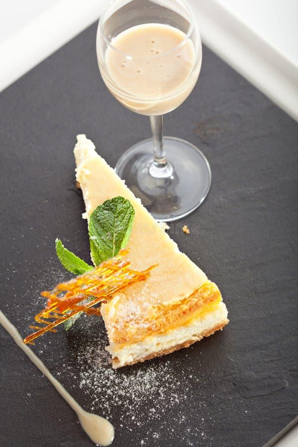 Dessert - gâteau au fromage images stock