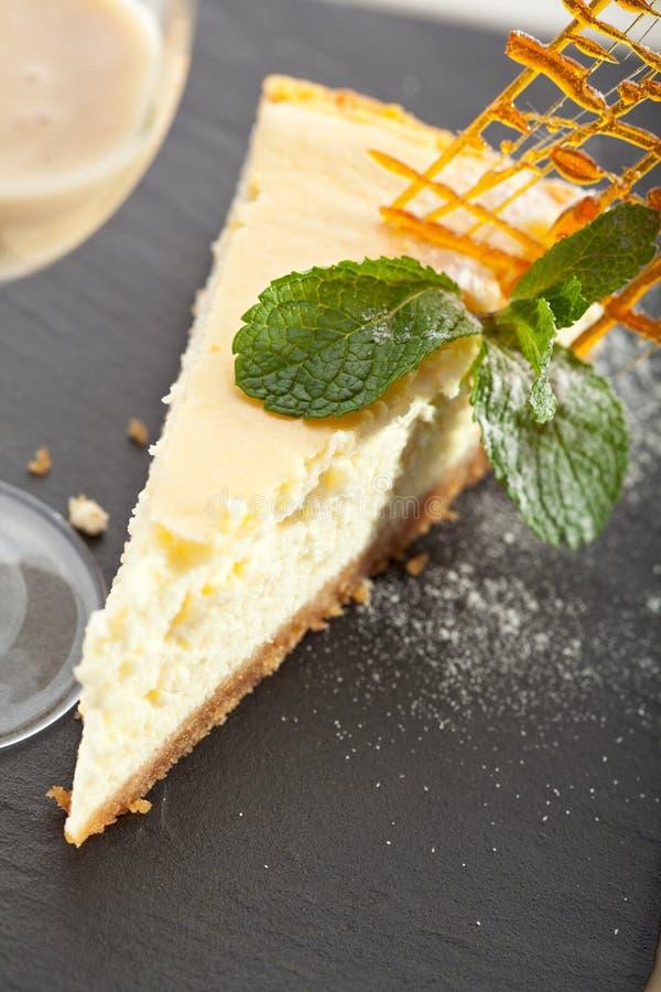 Dessert - gâteau au fromage image libre de droits