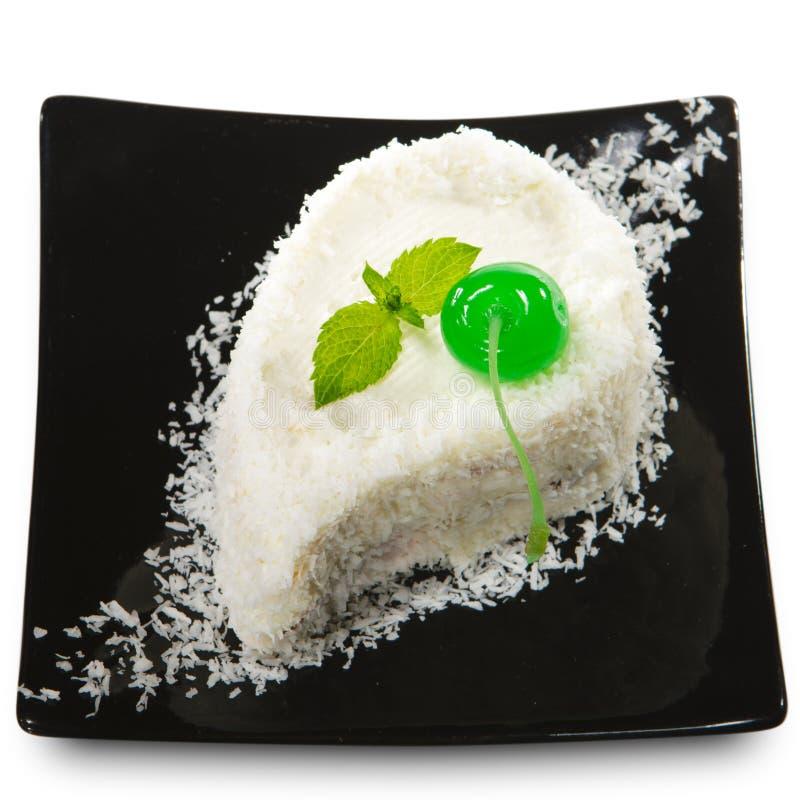 Dessert - gâteau de cerise photo libre de droits