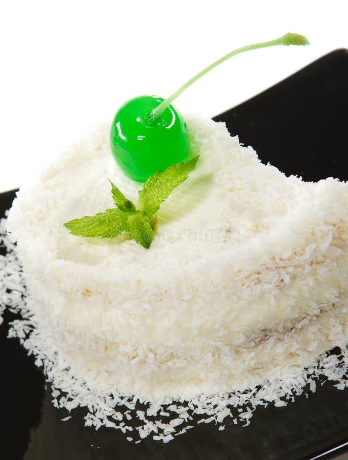 Dessert - gâteau de cerise photographie stock