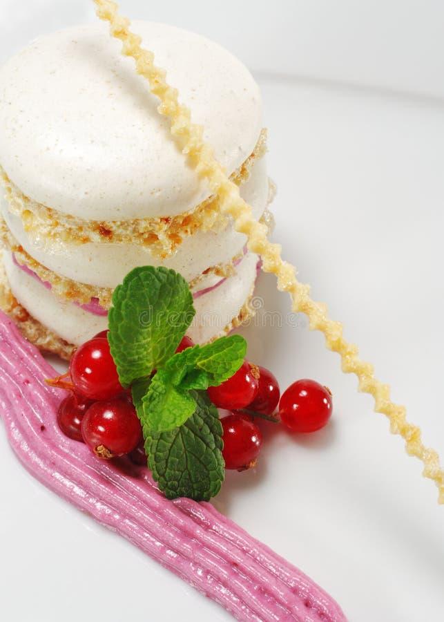 Dessert - gâteau de meringue photos libres de droits