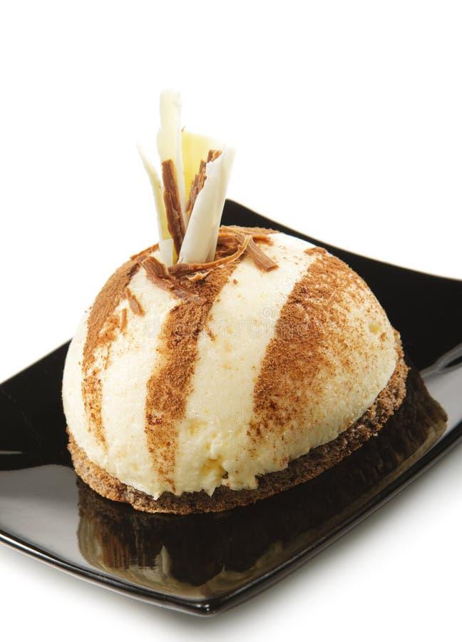 Dessert - gâteau de vanille photo stock
