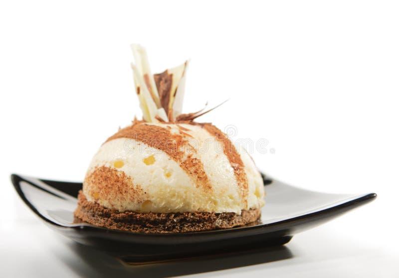 Dessert - gâteau de vanille image libre de droits