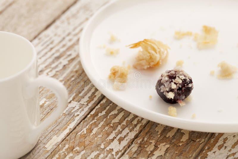 Dessert gone - pastry crumbs