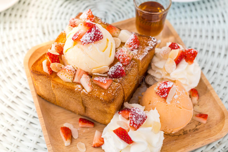 Dessert honey toast royalty free stock photos