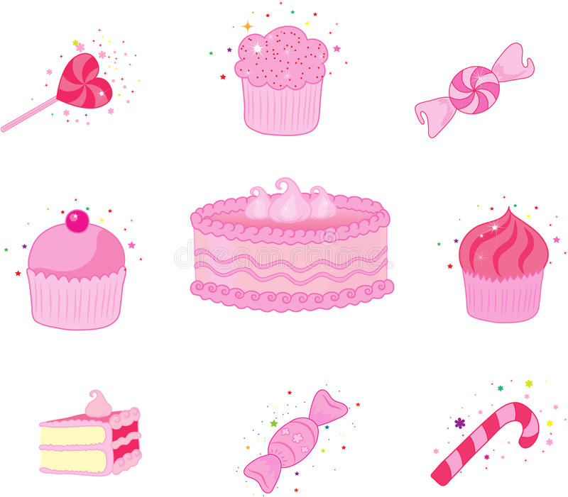 Dessert  Icon Set Stock Photography