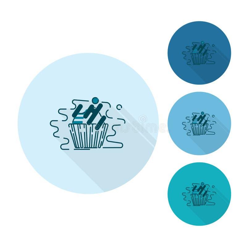 Cupcake. Modern Flat Icon royalty free illustration