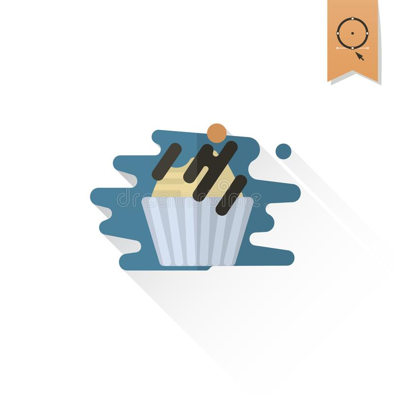 Cupcake. Modern Flat Icon vector illustration