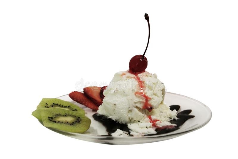 Dessert - Lava Cherry Mountain royalty free stock images