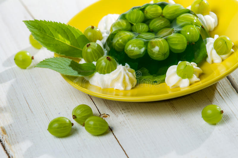 Download Dessert Made of Jelly And Gooseberries Stock Photo - Image: 25367976