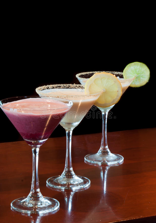 Dessert Martinis stock images