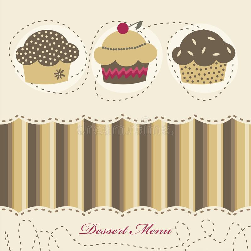 Dessert Menu Stock Photo