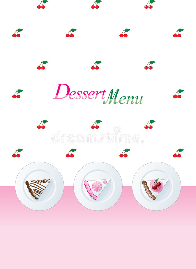 Download Dessert menu template stock vector. Image of decor, food - 6727540