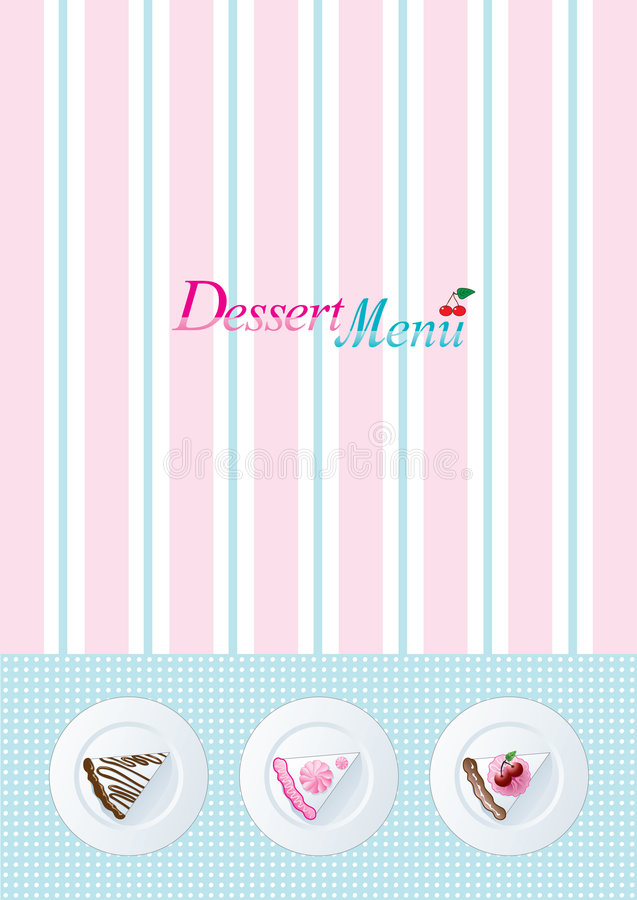 Dessert Menu Template Royalty Free Stock Image