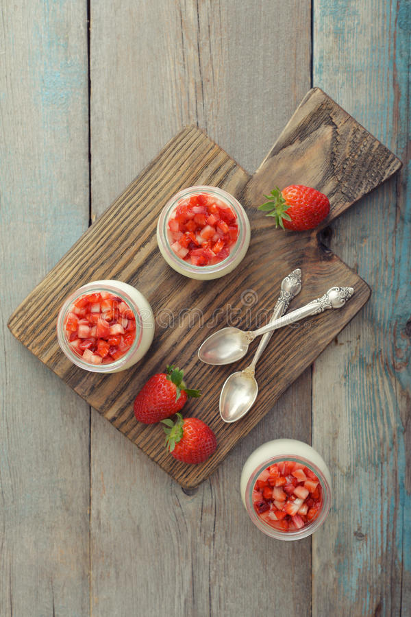 Download Dessert panna cotta stock image. Image of board, berry - 39174399