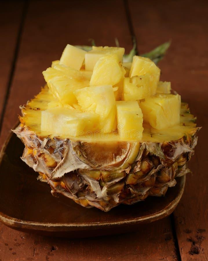 Dessert pineapple sliced royalty free stock photos
