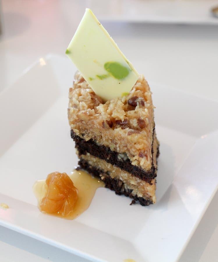 Dessert placcato cioccolato tedesco fotografia stock libera da diritti