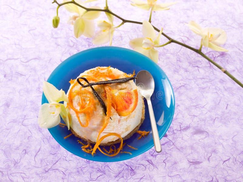 Download Dessert Ricotta With Orange Stock Image - Image: 23433913