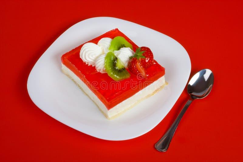 Dessert rouge image stock